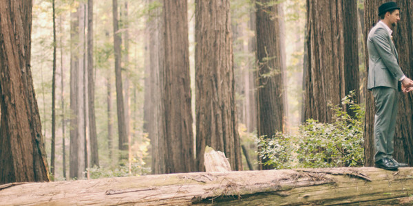 Amber + Mike // Redwoods in California