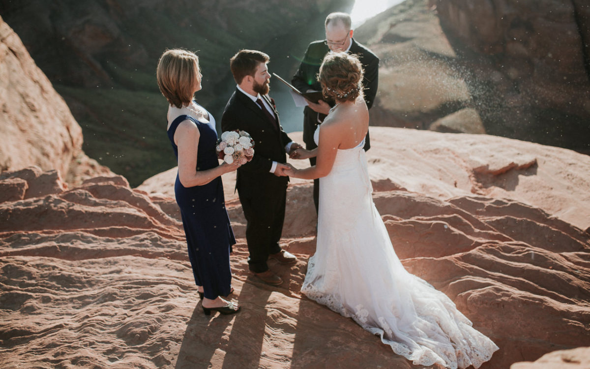 Shelly and Joe // Cliff Edge Elopement, Horse Shoe Bend